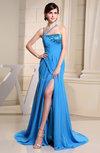 Modern Asymmetric Neckline Sleeveless Chiffon Court Train Beading Homecoming Dresses