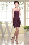 Simple Sheath Sleeveless Zipper Chiffon Ruching Homecoming Dresses