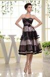 Casual Sweetheart Sleeveless Zip up Knee Length Bridesmaid Dresses