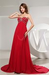 Gorgeous Empire Sweetheart Sleeveless Chiffon Chapel Train Prom Dresses