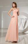 Elegant One Shoulder Sleeveless Ankle Length Ruching Evening Dresses