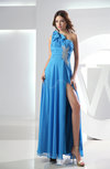 Romantic Sleeveless Criss-cross Straps Chiffon Ankle Length Ruching Evening Dresses