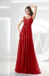Casual Empire Zipper Chiffon Floor Length Ruching Bridesmaid Dresses