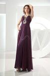 Simple Thick Straps Sleeveless Zipper Chiffon Evening Dresses