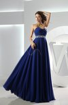 Modest A-line Sweetheart Zip up Chiffon Floor Length Prom Dresses