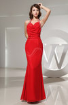 Gorgeous Column Halter Backless Floor Length Beaded Evening Dresses