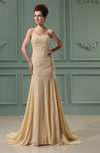 Gorgeous Outdoor Fit-n-Flare Sweetheart Sleeveless Chiffon Chapel Train Bridal Gowns