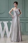Cinderella Outdoor A-line One Shoulder Sleeveless Zipper Edging Bridal Gowns