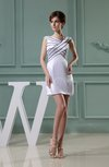 Traditional Column Portrait Sleeveless Short Plainness Cocktail Dresses