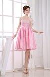 Casual Sleeveless Taffeta Knee Length Sequin Homecoming Dresses