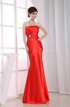 Elegant Strapless Sleeveless Zipper Floor Length Prom Dresses