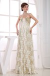 Glamorous Outdoor A-line Sleeveless Backless Bridal Gowns