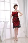 Sexy Sheath Backless Silk Like Satin Flower Party Dresses