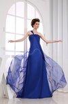 Romantic One Shoulder Sleeveless Backless Court Train Bridesmaid Dresses