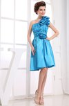 Informal Sleeveless Zip up Elastic Woven Satin Ruching Club Dresses