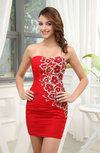 Modern Sweetheart Sleeveless Backless Short Homecoming Dresses