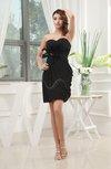 Romantic Sheath Sweetheart Zipper Chiffon Mini Bridesmaid Dresses