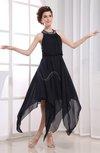 Elegant Halter Zipper Knee Length Rhinestone Prom Dresses