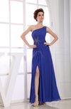 Casual Asymmetric Neckline Sleeveless Chiffon Floor Length Rhinestone Prom Dresses