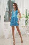 Sexy Sheath Sleeveless Criss-cross Straps Mini Party Dresses