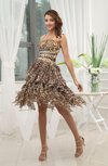Sexy A-line Asymmetric Neckline Sleeveless Criss-cross Straps Prom Dresses