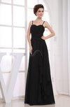 Informal A-line Sleeveless Zip up Chiffon Ruching Bridesmaid Dresses