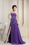 Luxury A-line Sweetheart Zipper Chiffon Paillette Evening Dresses