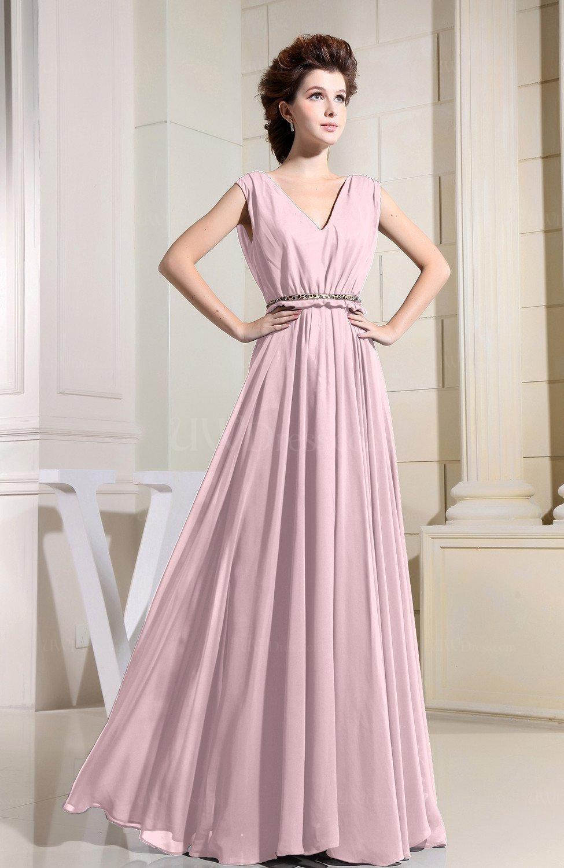 f4fd1e39df4 Blush Casual V-neck Sleeveless Chiffon Pleated Bridesmaid Dresses (Style  D37046)
