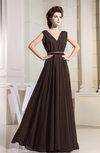 Casual V-neck Sleeveless Chiffon Pleated Bridesmaid Dresses