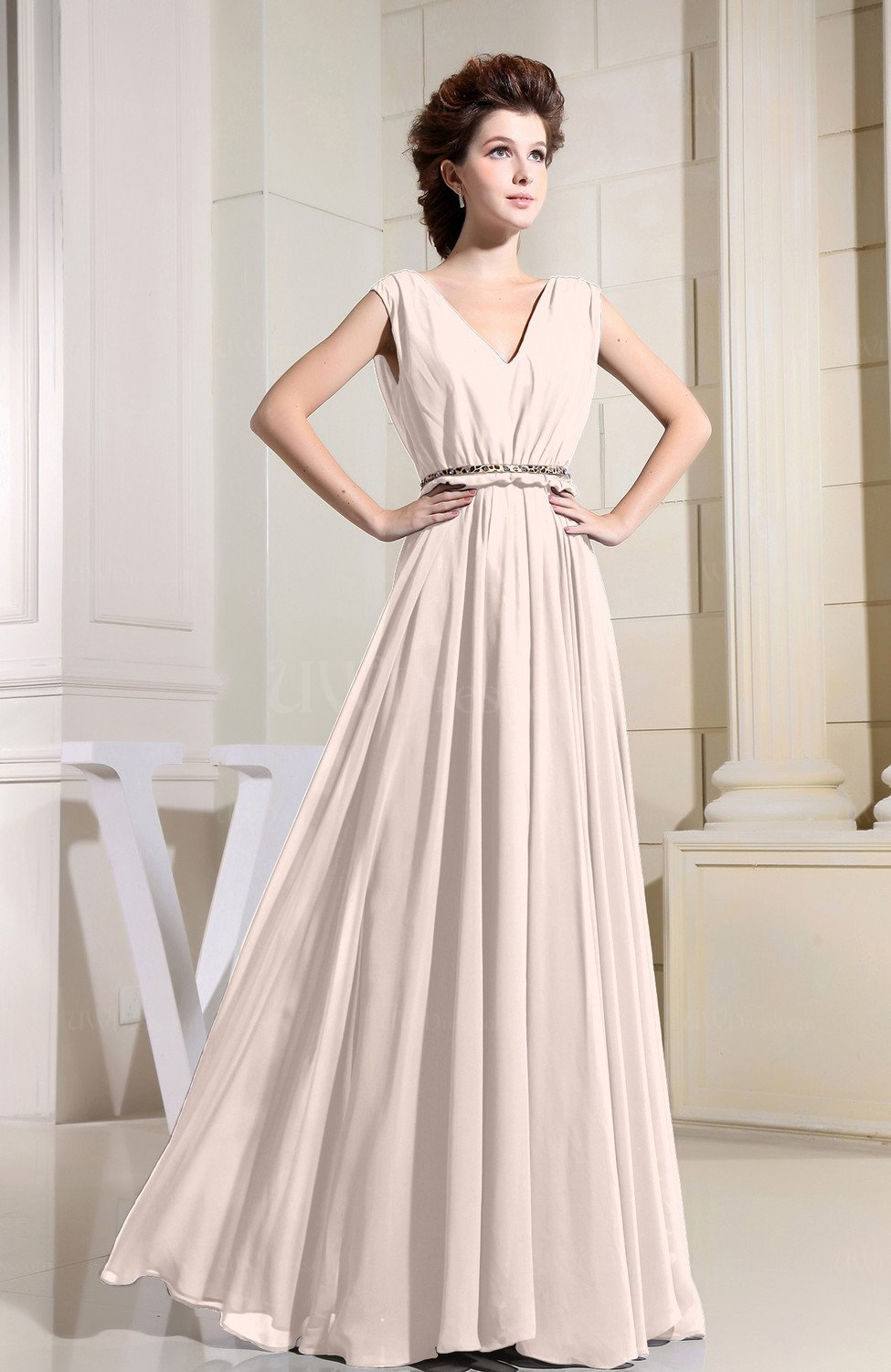 890ba618088 Cream Chiffon Bridesmaid Dresses