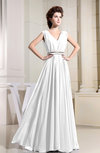 Casual V-neck Sleeveless Chiffon Pleated Bridesmaid Dresses