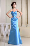 Simple Sweetheart Sleeveless Backless Satin Floor Length Bridesmaid Dresses