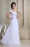 Elegant Sleeveless Chiffon Floor Length Ruching Evening Dresses