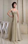 Romantic Empire Sweetheart Sleeveless Court Train Rhinestone Bridesmaid Dresses