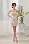 Sexy Sweetheart Sleeveless Zipper Mini Sequin Wedding Guest Dresses