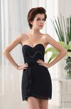 Sexy Sweetheart Sleeveless Zipper Mini Ruching Little Black Dresses