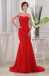 Romantic Church Mermaid Sleeveless Zip up Court Train Bridal Gowns