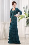 Modest Column Strapless Chiffon Floor Length Mother of the Bride Dresses