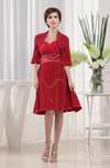 Modern Sweetheart Sleeveless Backless Elastic Woven Satin Knee Length Wedding Guest Dresses