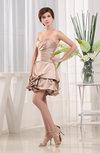 Modest A-line Sweetheart Sleeveless Elastic Woven Satin Ruching Club Dresses