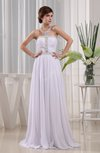 Classic Beach A-line Halter Sleeveless Chiffon Ruching Bridal Gowns