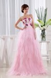 Casual A-line Sweetheart Brush Train Appliques Evening Dresses