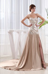 Sexy A-line Sweetheart Sleeveless Court Train Prom Dresses