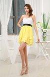 Plain Sweetheart Zip up Chiffon Short Bridesmaid Dresses