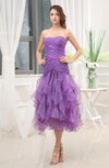 Cute A-line Sleeveless Zipper Organza Ruching Wedding Guest Dresses