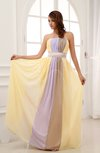 Modest A-line Zipper Brush Train Sash Wedding Guest Dresses