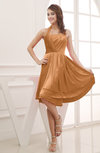 Elegant Halter Sleeveless Chiffon Ruching Club Dresses