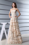 Romantic Sleeveless Zipper Chiffon Ruching Evening Dresses
