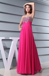 Classic A-line Sweetheart Sleeveless Chiffon Sequin Party Dresses