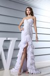 Sexy Garden Zipper Chiffon Hi-Lo Ruching Bridal Gowns